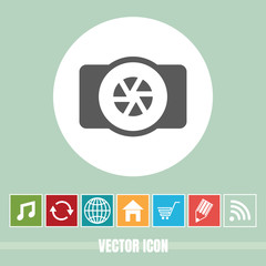 very Useful Vector Icon Of Camera with Bonus Icons Very Useful For Mobile App, Software & Web