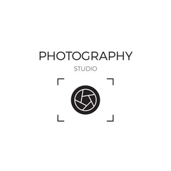Photography line logo template