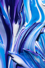 Smears of violet and blue paint