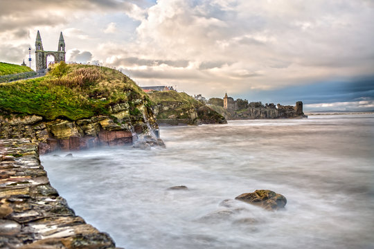 The Coast Line of St. Andrews in Scotland