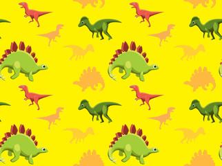 Dinosaurs Wallpaper Vector Illustration 15