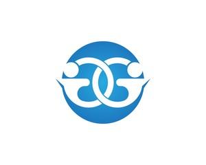 People care logo template