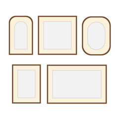 Picture photo frames. Photography wooden frame decoration