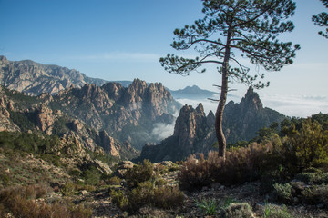 view of corsica mountains