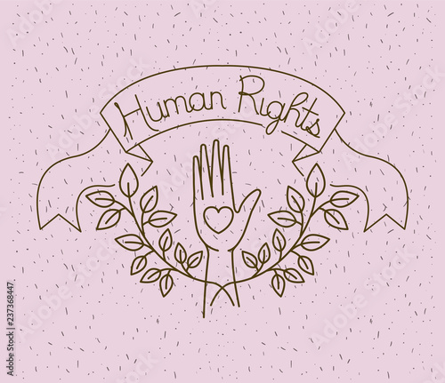 Hand With Heart Human Rights Drawns Stock Image And Royalty Free