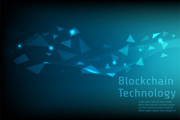 Blockchain Technology connect together concept background vector eps10.