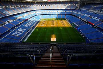 Santiago Bernabeu stadium is seen in Madrid