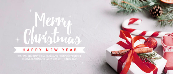 Creative christmas party banner template