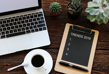 TRENDS 2019 Business Concept