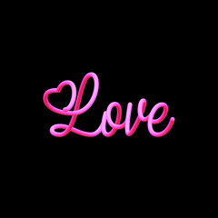 blended inscription Love