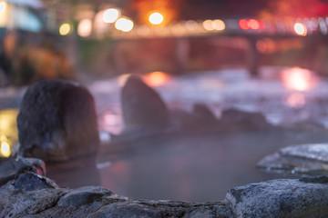 夜の長湯温泉ガニ湯