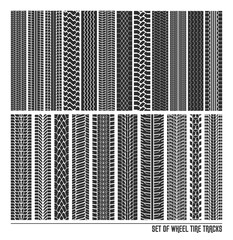 Tire ot tyre of a car, truck, moto trail patterns