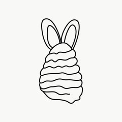 Vector of an ice cream with rabbit ears to line to paint
