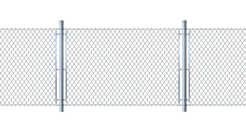 Seamless fence made of  metal wire mesh.