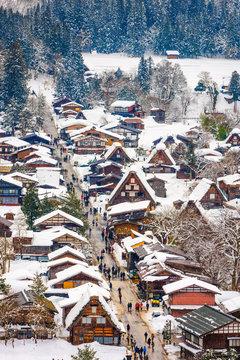 Shirakawago, Japan Winter Village