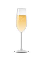 Glass of Champagne Classical Luxury Alcohol Drink
