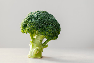 one broccoli standing