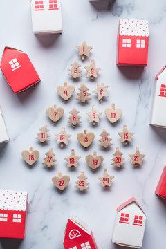 Christmas advent calendar festive background