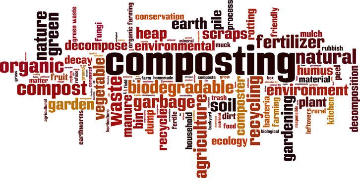 Composting word cloud