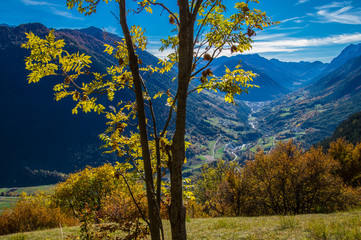 autumn landscape in the Swiss Alps