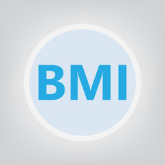 BMI (Body Mass Index) acronym- vector illustration