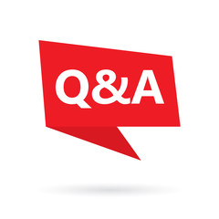 Q&A (questions and answers) acronym on a speach bubble- vector illustration