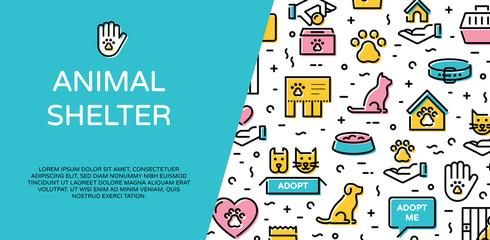 Vector Animal Shelter Icon Banner Design