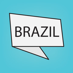 Brazil word on a sticker- vector illustration