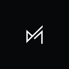 Outstanding professional elegant trendy awesome artistic black and white color M MM JM MJ initial based Alphabet icon logo.