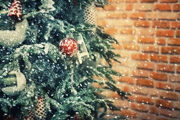 Christmas tree. Holiday background
