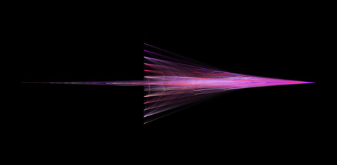 Abstract Purple Arrow Isolated On Black Background