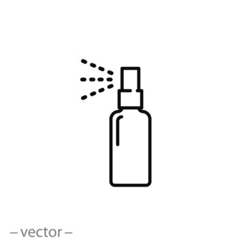bottle spray icon vector