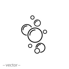 bubble icon vector