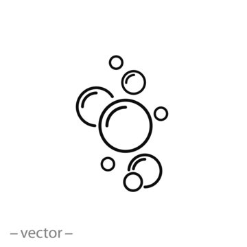 bubble icon vector