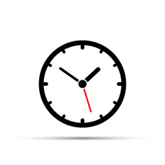 Simple clock icon on a white background