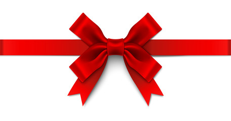 Red Satin Ribbon Bow