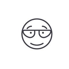 Scientist Emoji concept line editable vector concept icon. Scientist Emoji concept linear emotion illustration