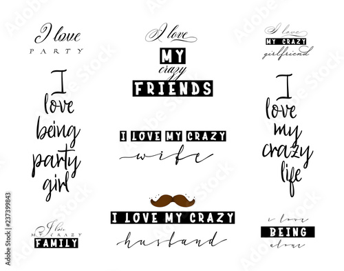 Crazy love quotes for t-shirt posters and slogans for ...