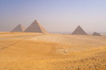 Pyramids of Giza near Cairo Egypt