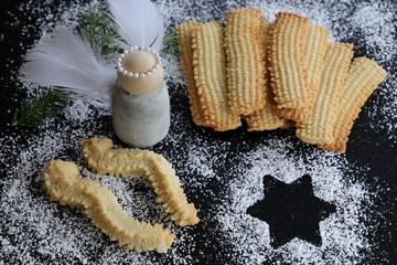 Weihnachtskekse Mit Marmeladenfüllung.Search Photos Mürbeteig