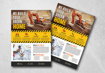Construction Flyer Layout