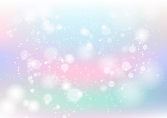 Pastel, abstract background, colorful, dust and particles scatter with stars scatter blinking blur vector illustration, holiday season celebration party concept