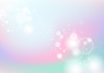 Pastel, colorful abstract background, bubbles, dust and particles scatter with light sparkle blinking blurry vector illustration, celebration festival holiday season concept