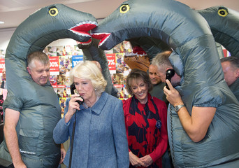 Britain's Camilla, the Duchess of Cornwall, Patron, visits ICAP during the broker's 26th annual Charity Day, in Londo