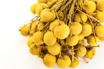 yellow sweet fruits longana lot on the branch of the exotic plant of Thailand, snack dessert