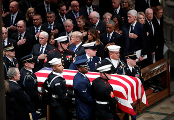 Funeral service for former U.S. President George H.W. Bush in Washington