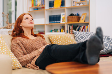 Young woman spending quality time relaxing
