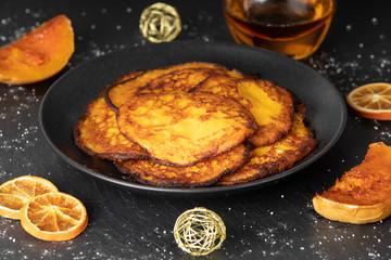 Frische Kürbispfannkuchen