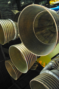 Rocket engines at The U.S. Space & Rocket Center in Huntsville, AL.