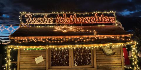 Punschhütte und Frohe Weihnachten